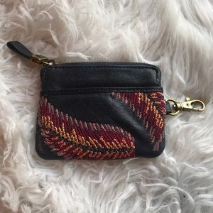 NWOT leather Fossil change id wallet